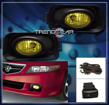 2004-2005 ACURA TSX BASE 4DR BUMPER DRIVING JDM YELLOW FOG LIGHTS LAMPS W/BULB