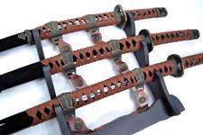 Traditional Ceremonial Triple Samurai Sword Set