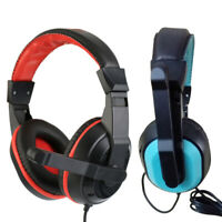Wired 3.5mm AUX Gaming Stereo Earphone Headphone Headset w/ Noise Cancelling Mic