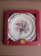 Lenox Colonial Bouquet Plate for 2000 New in Box New Hampshire The Sixth Colony