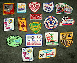Lot of 17 Ohio Indiana Midwest Soccer Clubs Tournament Patches New NOS 1980s