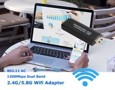 1200Mbps 2.4G/5G Dual Band USB WiFi Adapter W/ Antenna for Desktop PC 802.11AC