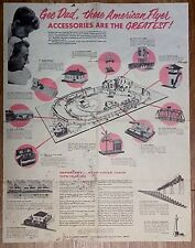 American Flyer No. M 4195 Gee Dad Accessory Fold Out 1958 Catalog Poster
