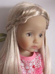 """Wig for Little Darling Boneka doll 10"""" Dianna Effner sz6/7""""(16/17.5cm)beige blde"""