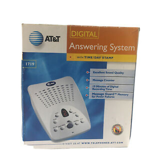 AT&T Digital Answering System W/ Time Day Stamp 1719 Tested Works!