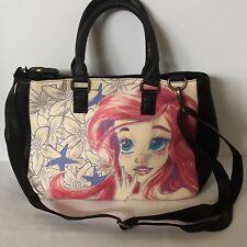 Ariel Disney Purse Pink Black Shoulder Strap