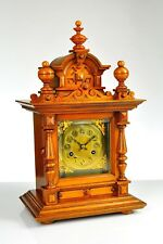 Gorgeous Antique German Junghans Mantel Clock Black Forest approx.1910