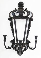 VTG Syroco Black Wall Sconce Candleholder Gothic Medieval Mid Centry Mod Hollywo