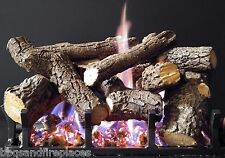 "Sierra Majestic Oak Gas Log Kit with Bi-Flo Burner- Nat. Gas 18"" Vented Gas Logs"