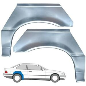 BMW E36 3 COUPE CABRIO 1990-2000 REAR WHEEL ARCH REPAIR PANEL / SET OF 2 / PAIR