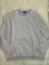 Brooks Brothers Men's 2XL Supima Cotton Crew Neck Sweater XXL Lilac And White