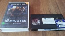 15 MINUTES - ROBERT DE NIRO, EDWARD BURNS  - VHS VIDEO TAPE