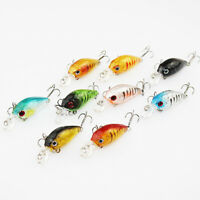 Fishing Lure Bass Crank Bait Minnow 3D Plastic Hooks Fish Crankbait Tackle Charm