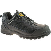 Mens Grafters Black Composite Safety Non Metal Work Trainer Shoes M462A KD