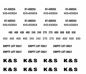 K & S decals HO scale