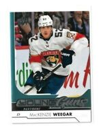 2017-18 UPPER DECK #459 MACKENZIE WEEGAR YG RC UD YOUNG GUNS ROOKIE PANTHERS