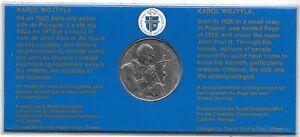 Pape John Paul II Visite À Canada Fort Simpson Sept 9-20, 1984 Médaillon ~ Fr /