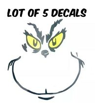 Grinch ornaments Decals DIY Lot of 5 decals cups holiday gifts make it yourself