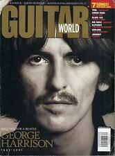 2/2002 GUITAR WORLD magazine  GEORGE HARRISON cover  The Beatles Kid Rock