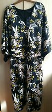 M&S Collection Black Mix Floral Tunic Dress Size 32 Regular - BNWT RRP £49.50