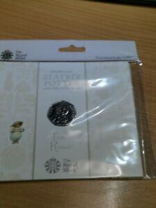 Beatrix Potter Sealed 50p Royal Mint Tom kitten P000850_3a+b