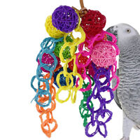 EE_ EG_ Colorful Ring Ball Parrot Bird Bite Climbing Play Hanging Toy Pet Cage D