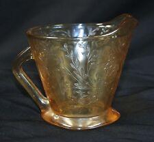 "Vintage JEANETTE 50's Floragold Louisa Marigold Iridescent Creamer 3 5/8"" W"