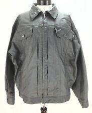 FUBU Authentic Men's Waxed Button Up Classic Jacket XL Gray Metallic EUC