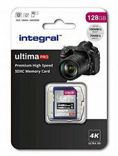 Integral ultimaPRO 128GB SD Card 4K High Speed Memory SDXC Up To 100MB/S V30 UHS