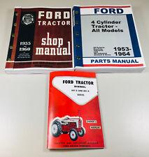 Ford 601 D 801 D Diesel Tractor Operator Parts Service Repair Shop Manuals