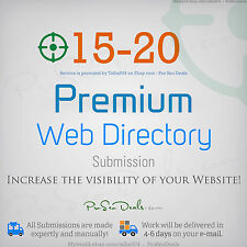Safe SEO ★ 15-20 PREMIUM Directory Submision ★ High PR Backlinks ★