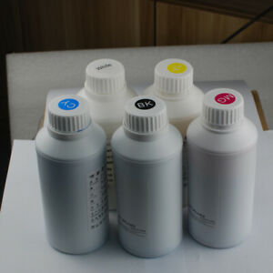 5 * 500ml Textile Ink for Cloth T-shirt DTG Printer CMYK+W