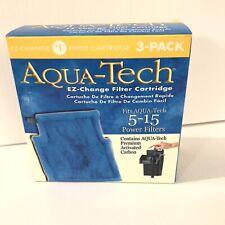 NEW Aqua-Tech 3-Pack For Aqua-Tech 5-15 Power Replacement Filters Open Box