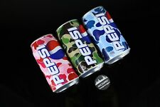 A Bathing Bape x Pepsi Set of 3 Unopened Sealed Green Pink Blue Camo Rare - NEW