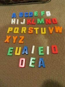 MAGNETIC Letters A-Z  Vintage Playskool 26 +10