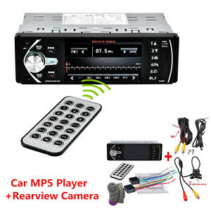 "4.1"" HD In-Dash Car MP5 Player Stereo Video FM Radio Bluetooth USB/AUX/SD+Camera"