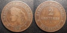 France - IIIème République - 2 centimes Cérès 1879 A, Paris - F.109/6