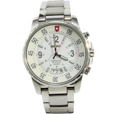 Seiko Criteria SNQ077 P1Silver White Perpetual Calendar Men's Quartz Watch