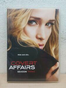Covert Affairs Season 3 DVD DRAMA SERIES OVER 11 HOURS Region 1 NTSC