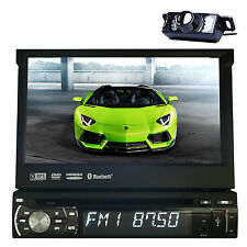 "Camera 7"" Single Din Car CD DVD Player In Dash GPS Stereo Radio LCD Touch Screen"