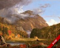NEW HAMPSHIRE WHITE MOUNTAINS HILLS NOTCH IN FALL PAINTING ART REAL CANVAS PRINT