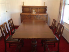 More details for vintage oak dining suite - 1930's lees style - sideboard, table & 4 chairs