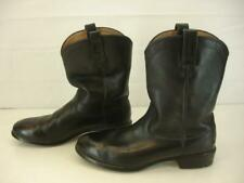 Ariat Mens sz 10.5 D M Heritage Roper Black Leather Cowboy Western Boots Pull-On