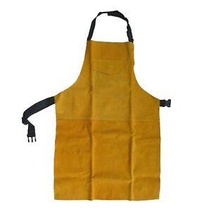 Leather Welders Apron Glaziers Carpenters Blacksmith Hotwork Welding Safety Bib