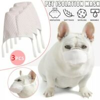 3pcs  Face Mouth Mask Headgear for Puppy Dog Cat New Masks for Dog Pets Supplies