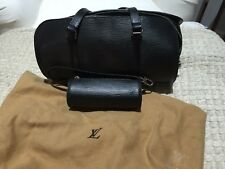 Authentic Louis Vuitton Epi  Soufflot Bag with Accessory Pouch