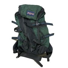 Vintage 90s Jansport Canvas Backpack Backpacking Green Travel Hiking