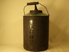 Rare Antique Home Glass / Tin Oil Can Kerosene Can Bottle Early Gas & Oil