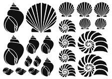 Shells Wall Art vinyl Decal / Sticker set