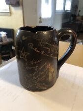 Antique Rare 1899 Yale Fraternity or Group Brown Ceramic Cup Signatures